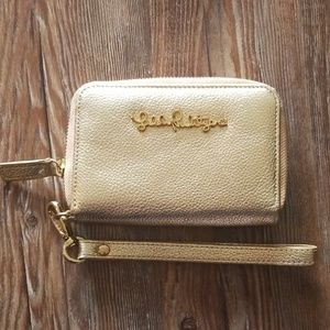 Gold Lilly Pulitzer Wristlet